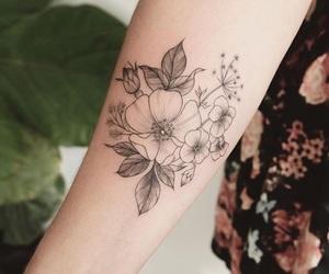 arm, tattoo, and botanica image