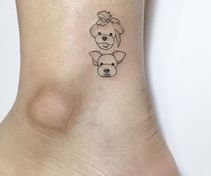 ankle, dogs, and tattoo image