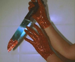 red, aesthetic, and glitter image