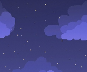 stars, clouds, and night image