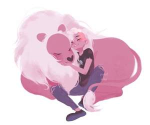 lion, art, and steven universe image
