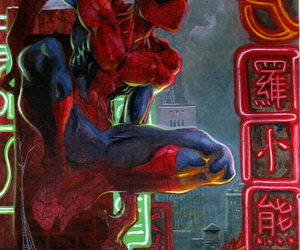 art, peter parker, and red image