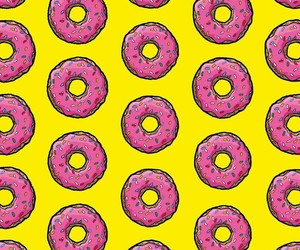 delicious, yellow, and donuts image