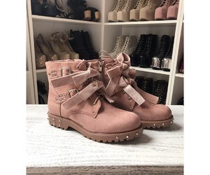 boots, cute shoes, and pink shoes image