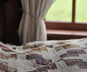 quilt and rustic image