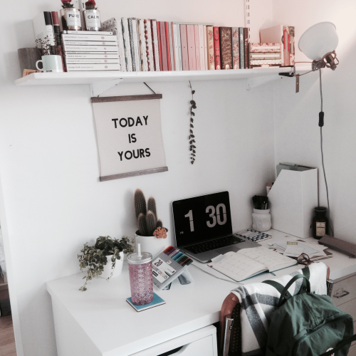 room, desk, and tumblr image