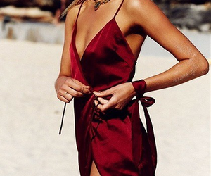 dress, red, and summer image