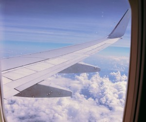 aesthetic, vacations, and airplane image