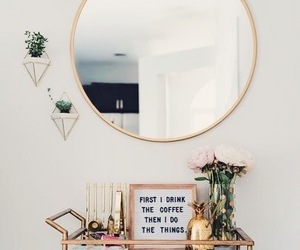 home, decoration, and mirror image