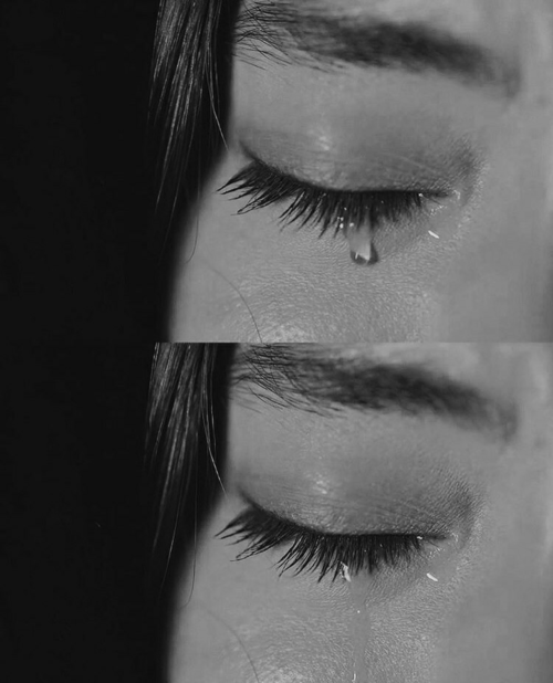 girl, cry, and pain image