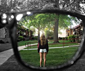 beautiful, glasses, and house image
