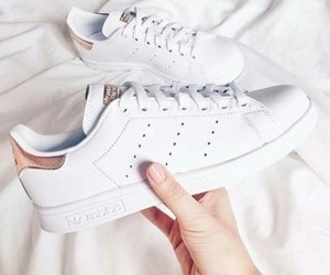 white, adidas, and sneakers image