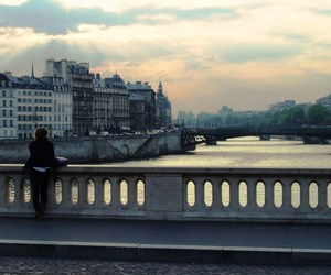 alone, city, and france image