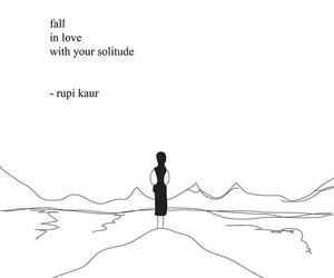 rupi kaur, quotes, and poem image