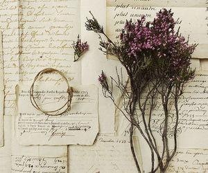flowers, vintage, and letters image