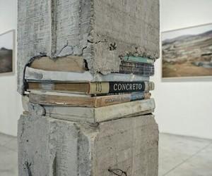 books and concrete image