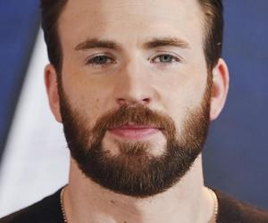 beard, handsome, and chrisevans image