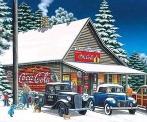 christmas, vintage, and old trucks image