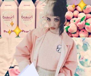 aesthetic, peach, and crybaby image