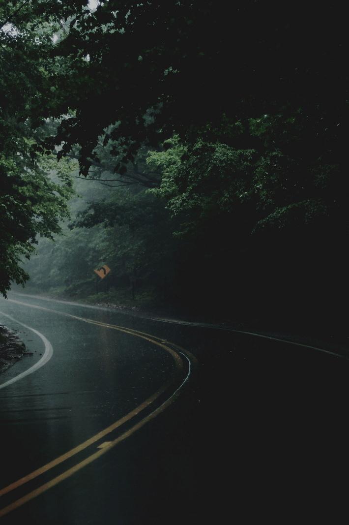 road, rain, and nature image