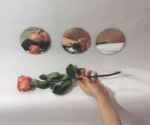 rose, mirror, and aesthetic image