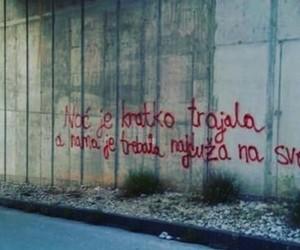 balkan, grafiti, and volim te image