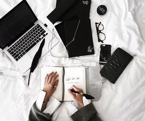 article, laptop, and white image