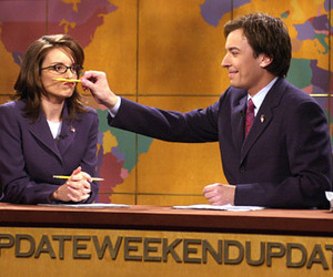 jimmy fallon, snl, and Tina Fey image
