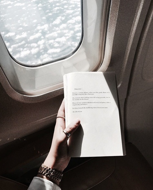 book, travel, and plane image
