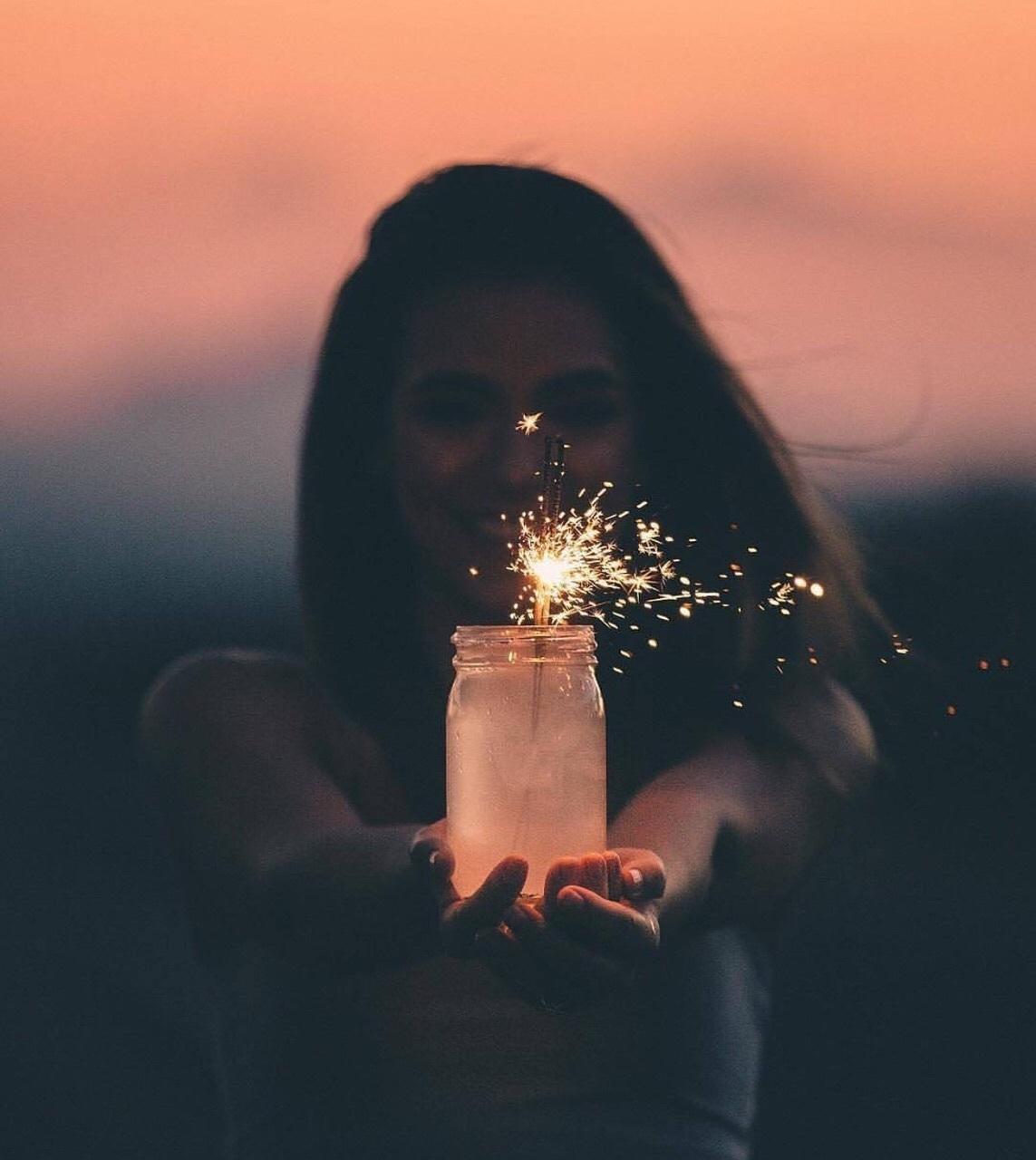aesthetic, fairy lights, and jar image