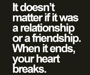 Relationship, friendship, and broken image
