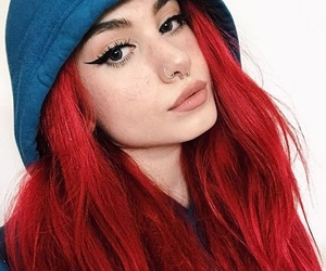 aesthetic, eyeliner, and girl image