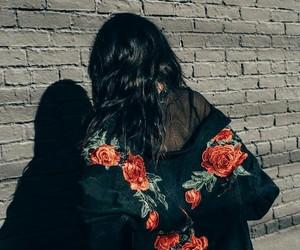 fashion, rose, and black image
