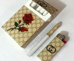 aesthetic, cigarette, and gucci image