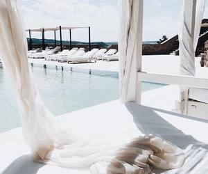 summer, pool, and white image