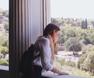 acropolis, Athens, and beautiful girl image
