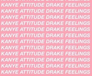 Drake, pink, and feelings image