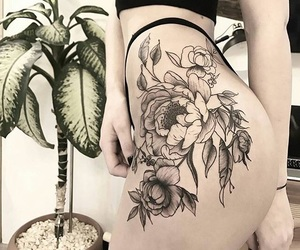 flowers, girl, and side image