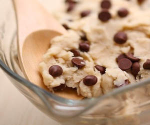 food, chocolate, and cookie dough image