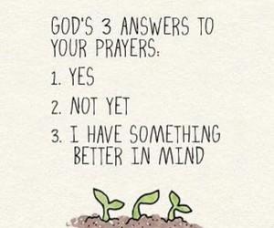 god, answer, and faith image