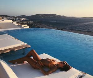 atriz, bikini, and pool image