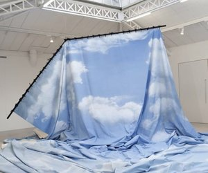 baby blue, blue, and installation image