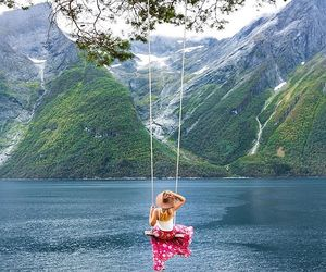 norway, outdoors, and lake image