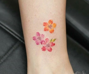 ankle, color, and flowers image