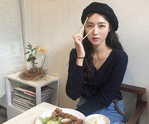 asian, chopsticks, and food image