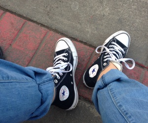 converse, cool, and girl image