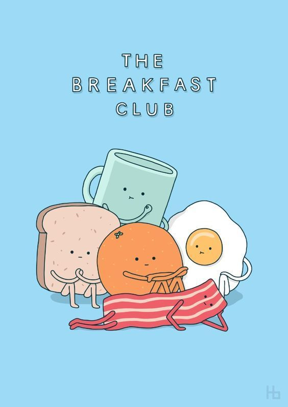 breakfast, club, and art image