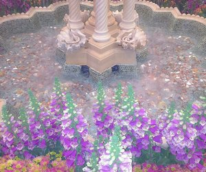 flowers, hotel, and fountain image