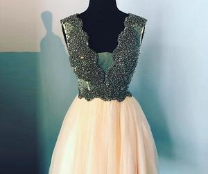 short prom dress, cute homecoming dress, and beading homecoming dress image
