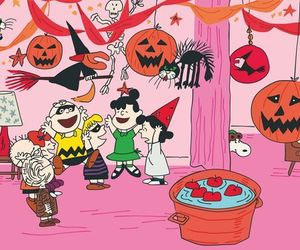 Halloween and the peanuts image